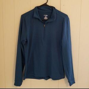 Saucony Teal 1/4 Zip Long Sleeve Top